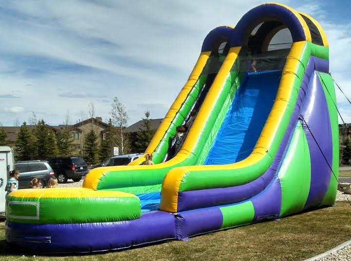 24ft giant slide from slip n dip